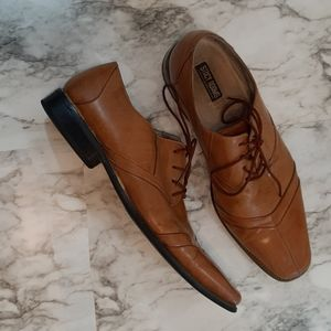 Mens Stacy Adam's tan leather dress shoes Sze13M
